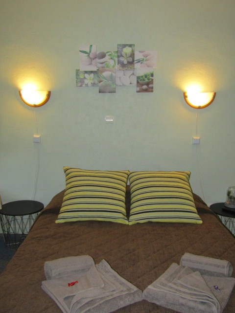 Hotel-le-Sauvage-chambre-verte-lit-double