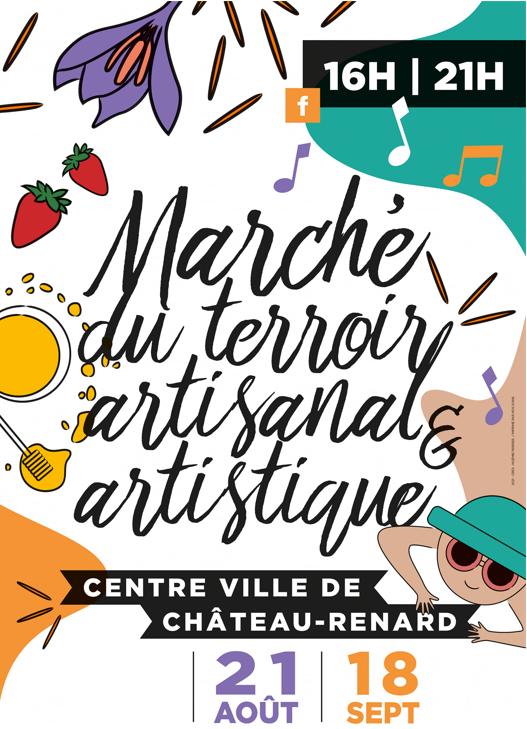 Marché Chateau-Renard 21 aout-18 septembre 2021