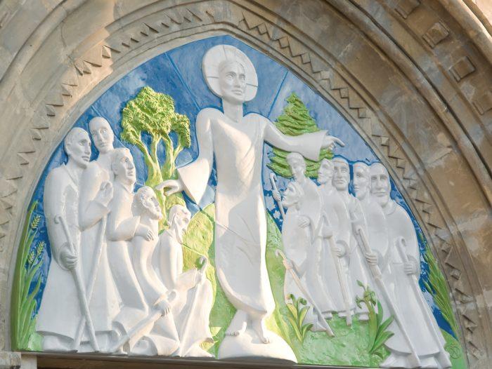 Tympan église d'Annet-sur-Marne – ©Natacha MONDON et Eric PIERRE